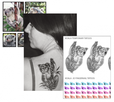 Koala_Jo_Temp_And_Fingernail_Tatoos